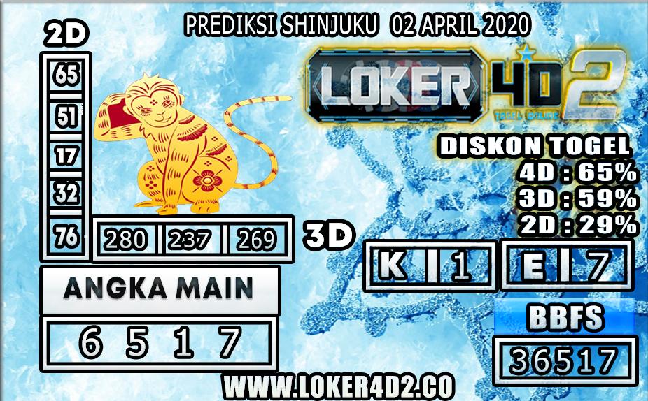 PREDIKSI TOGEL SHINJUKU LUCKY 7 LOKER4D2 02 APRIL 2020