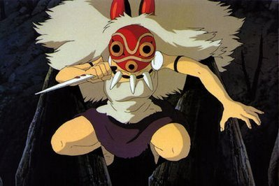 San attacking Princess Mononoke 1997 animatedfilmreviews.filminspector.com