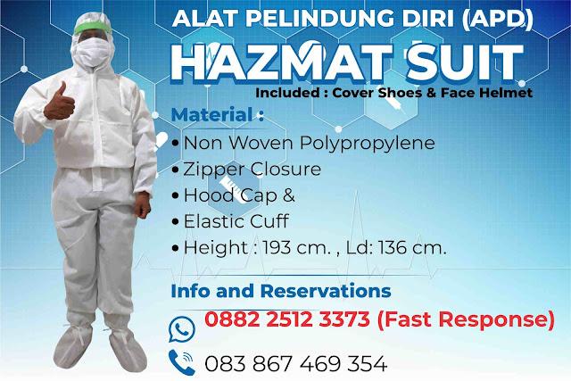 Pesan Hazmat / APD Alat Pelindung Diri Makassar