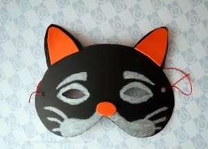 mascara de gato para tus fiestas infantiles