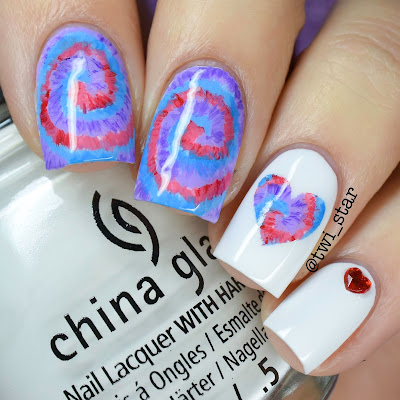 Tie-Dye Acrylic Paint Nail Art