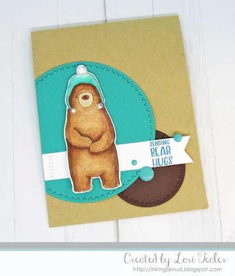 Sending Bear Hugs card-designed by Lori Tecler/Inking Aloud-stamps and dies from SugarPea Designs