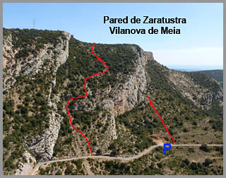 Vilanova de Meia, pared de Zaratustra