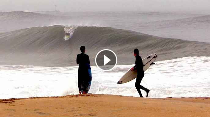 Pro Surfers CHARGE shorebreak SLABS and pull off INSANE rides