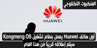 أول هاتف Huawei يعمل بنظام تشغيل Hongmeng OS