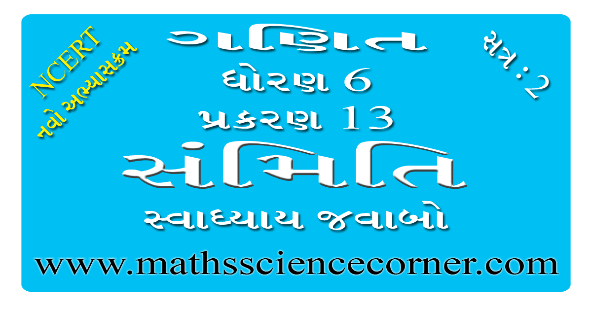 Maths Std 6 Swadhyay 13.1