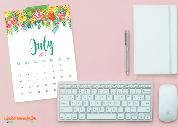 Free July Calendar Printable for 2020