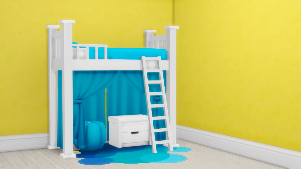 My Sims 4 Blog: Toddler Bunk Bed Frame, Mattress, Curtains ...
