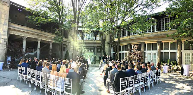 Wedding Ceremony at Liberty Grand Toronto Outdoor Courtyard