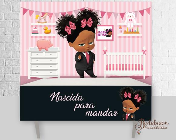 Poderosa Chefinha, Negra, Painel, Arte Painel, Arte digital, kit digital, saia de mesa, personalizados, festa infantil,painel a poderosa chefinha