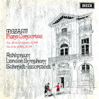 Grabación de los conciertos para piano núms. 20 y 6 de Mozart por Hans Schmidt-Isserstedt y Vladimir Ashkenazy, en el sello Decca.