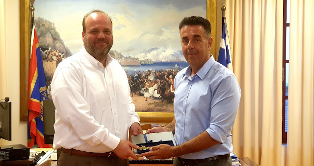 Συνάντηση του Δημάρχου Ναυπλιέων με τον Διοικητή του ΟΑΕΔ