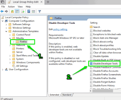 Cara menonaktifkan developer tools di Firefox via Group Policy Windows-2
