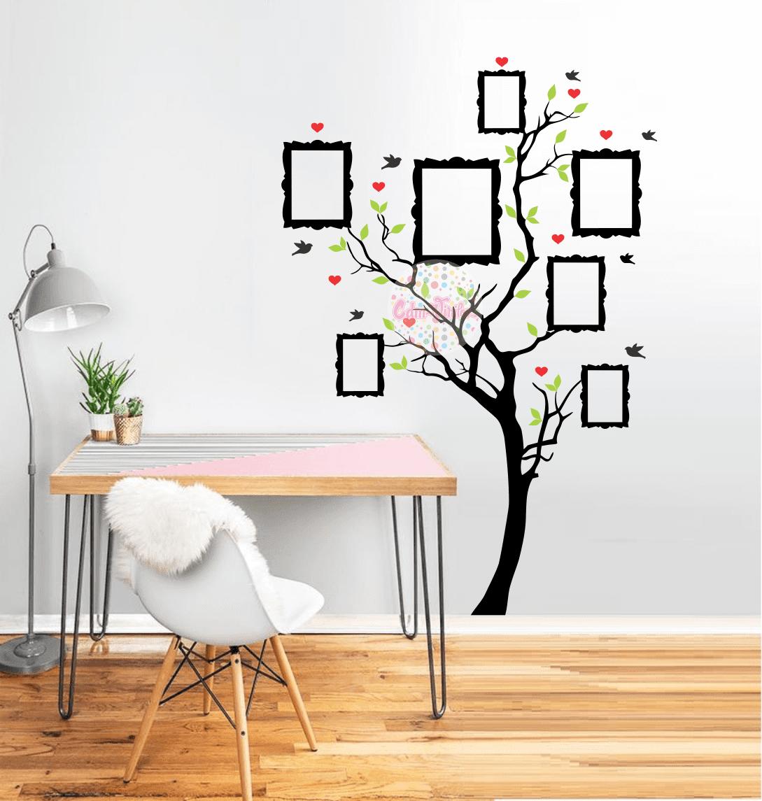 Arboles de vinilo para pared rbol con pjaros fotos de for Vinilos decorativos arboles