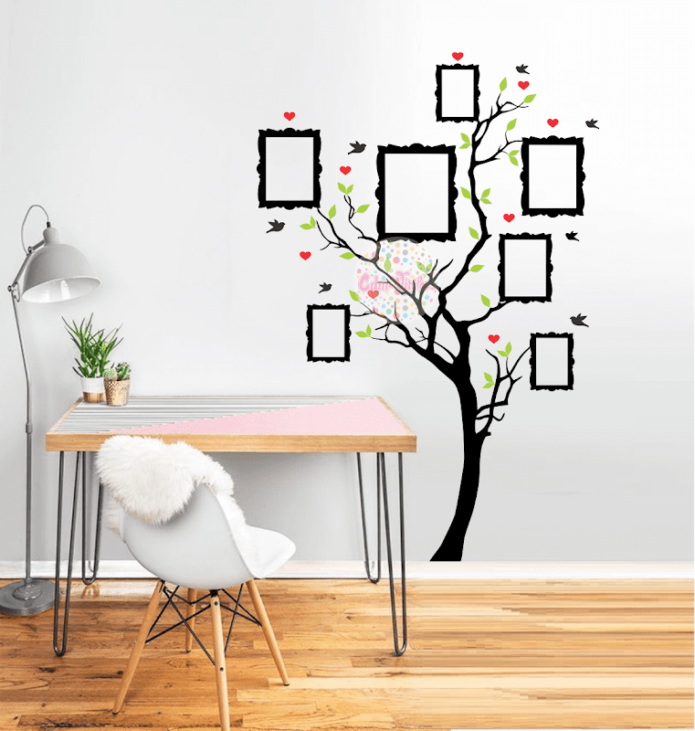 Vinilo decorativo arbol de la vida genealogico con for Foto vinilos decorativos pared