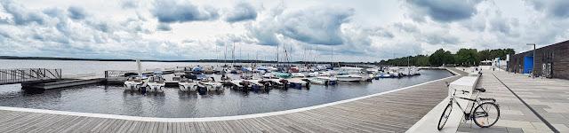 Senftenberger lake harbour in Lusatian lakeland aka Lausitzer seenland