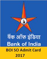 BOI SO Admit Card