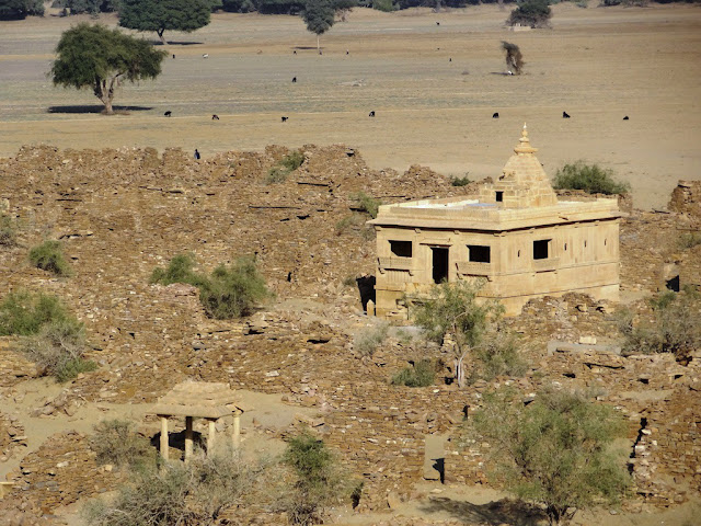Abandoned village view from Khaba Fort - Jaisalmer, Rajasthan - Pick, Pack, Go