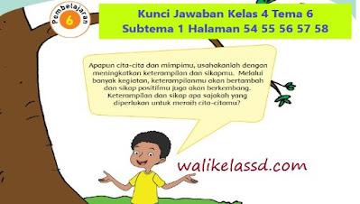 Kunci Jawaban Kelas 4 Tema 6 Halaman 54 55 56 57 58