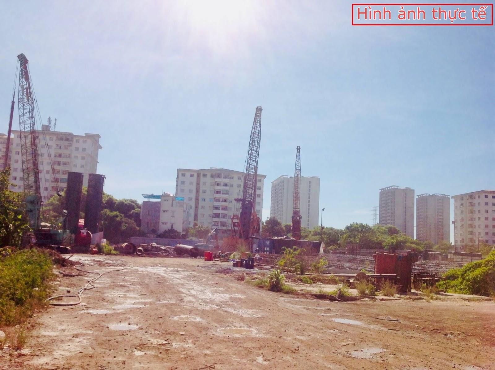 Tiến độ xây dựng thực tế của dự án chung cư Rose Town