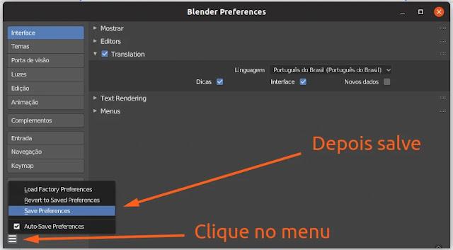 blender-traduzir-eevee-linux-3d-open-source-modelagem-animação-desenho-maquete-snap-flatpak