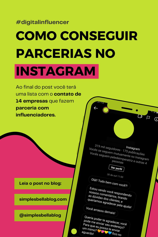 Como conseguir parcerias com marcas no Instagram