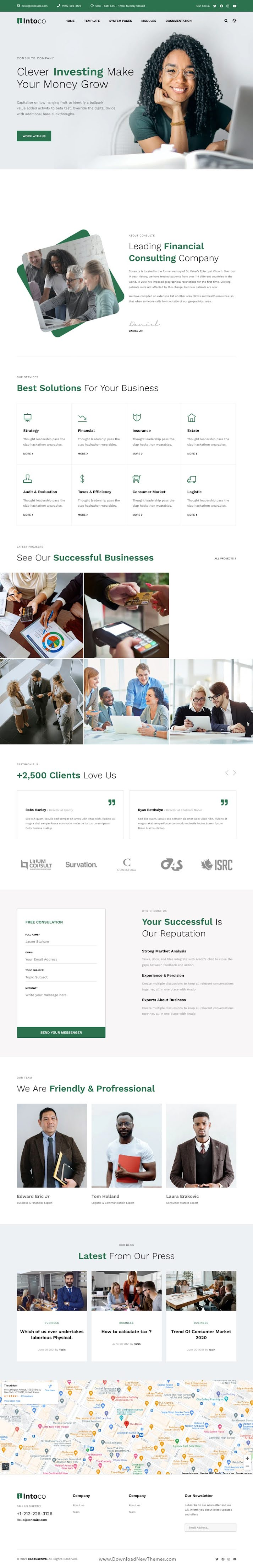 Intoco - Investment Company HubSpot Theme