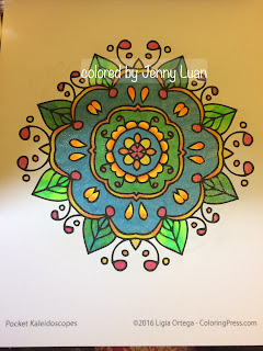 Pocket Kaleidoscopes: A Travel Size Mini Adult Coloring Book