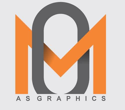 MO Alphabet Logo Design Vector