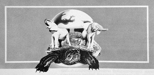 Земля на трех слонах и большой черепахе