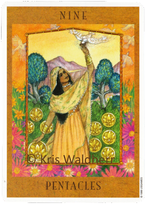 Goddess Tarot Nine of Pentacles