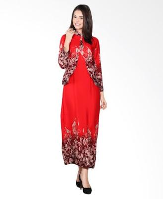 Model Gamis Batik Orang Gemuk terbaru
