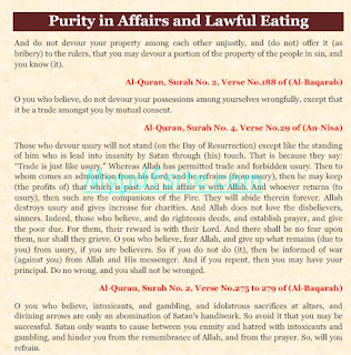 Purity in Affairs and Lawful Eating