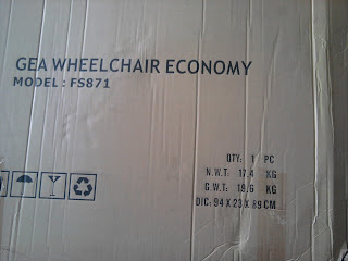 Spesifikasi Kursi Roda  Murah FS871
