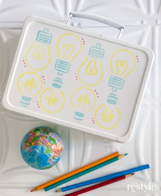 painted lunch box