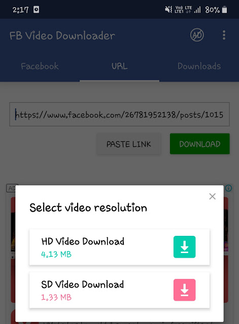 Download Facebook videos with URL
