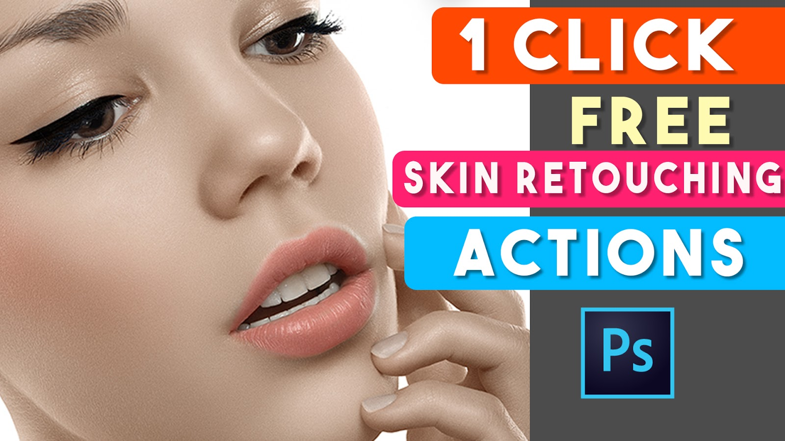 1 click skin retouching actions free download