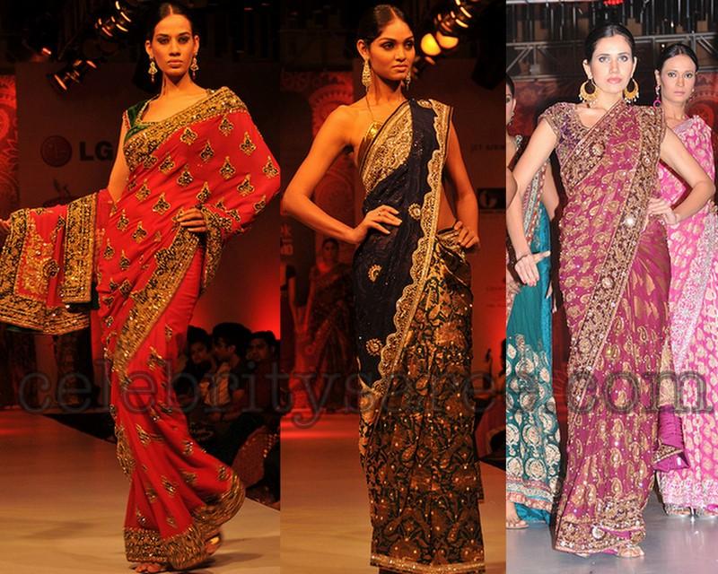 Neeru's Rich Work Designer Sarees - Saree Blouse Patterns
