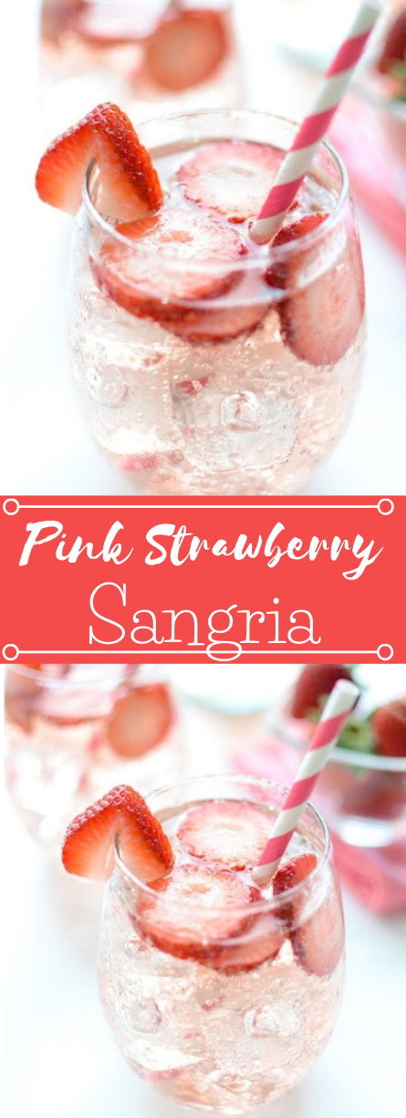 Pink Strawberry Sangria #drink #sangria #strawberry #cocktail #party