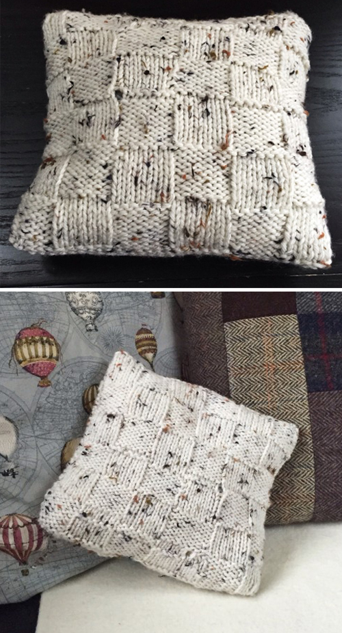 Charming Rustic Cushion Cover - Free Pattern