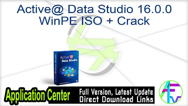 Active@ Data Studio 16.0.0 WinPE ISO + Crack