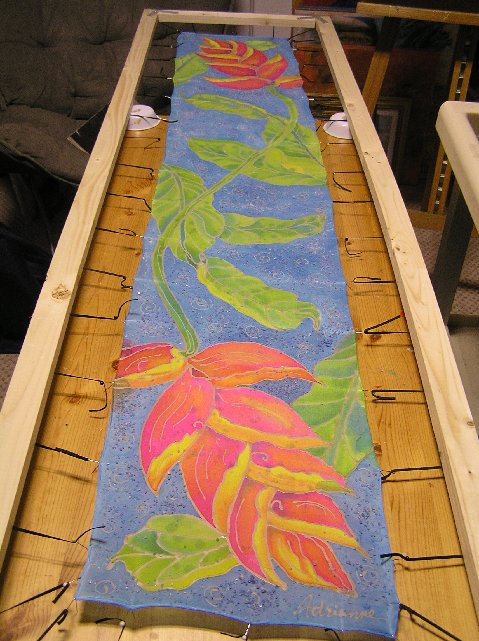 Silk Meeting In My Bedroom: Wellington Art Society: March Meeting With Silk Painting