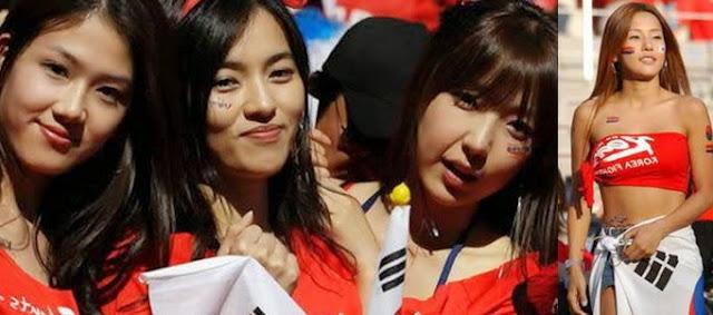 pendukung cantik dan seksi dari Korea Selatan