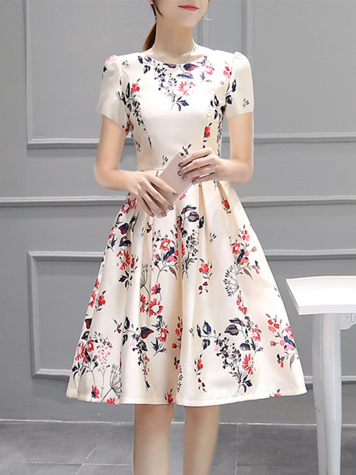 https://www.fashionmia.com/Products/inverted-pleat-floral-printed-puff-sleeve-round-neck-skater-dress-182142.html