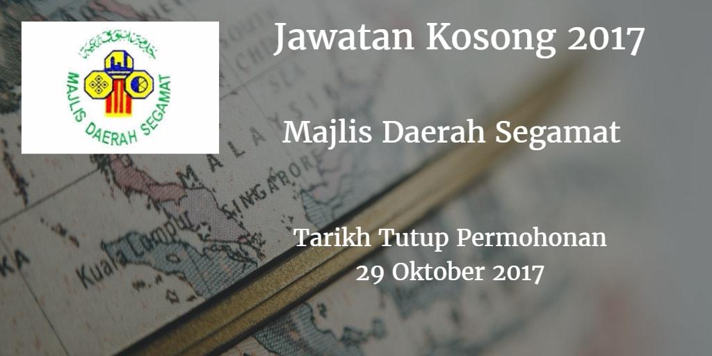 Jawatan Kosong Md Segamat 29 Oktober 2017