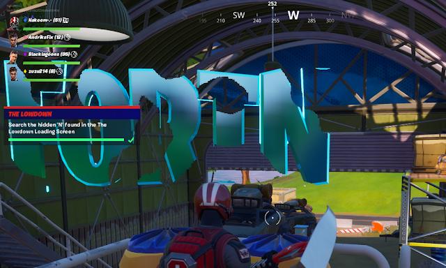 Search the hidden letter 'N' in the Lowdown Loading Screen