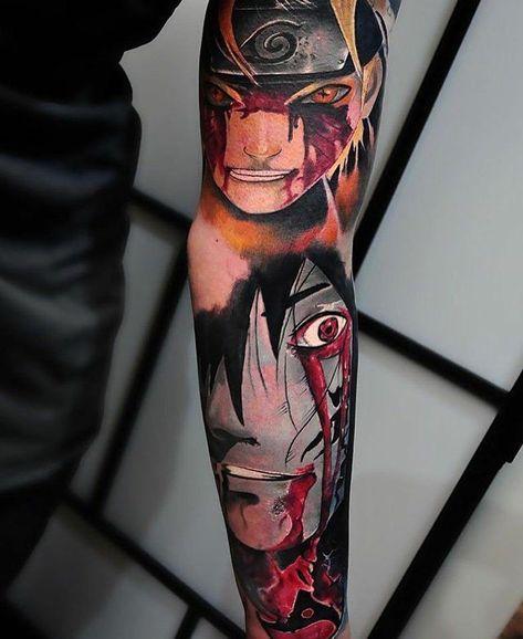 bad Anime Tattoo Sleeve