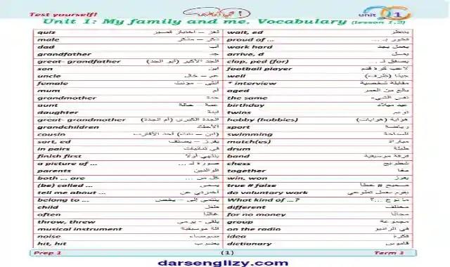 احدث مذكرة لغة انجليزية للصف الاول الاعدادى الترم الاول 2022  اعداد مستر محمود ابو غنيمة