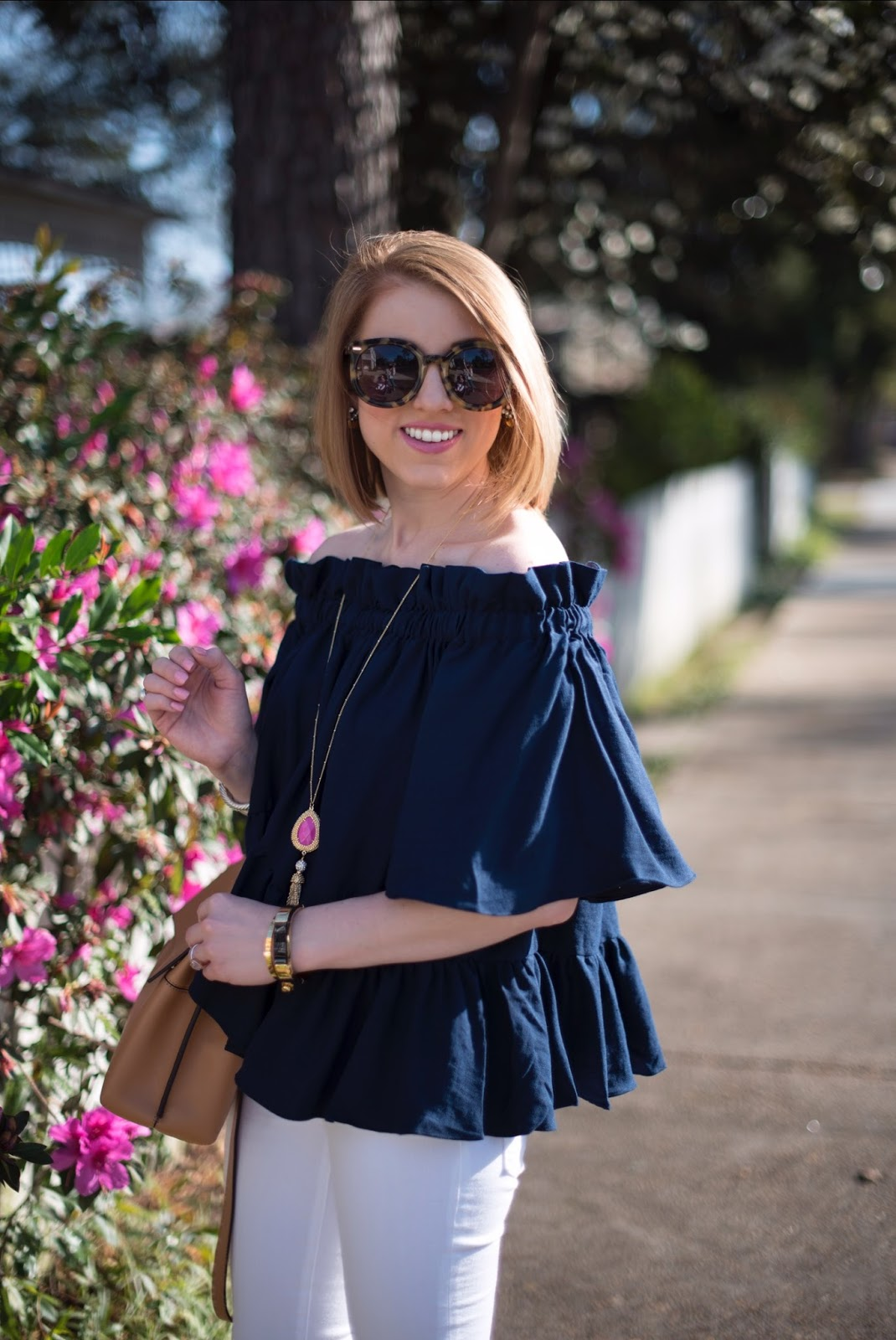 Ruffle Off The Shoulder Top - Click through to see more on Something Delightful Blog!
