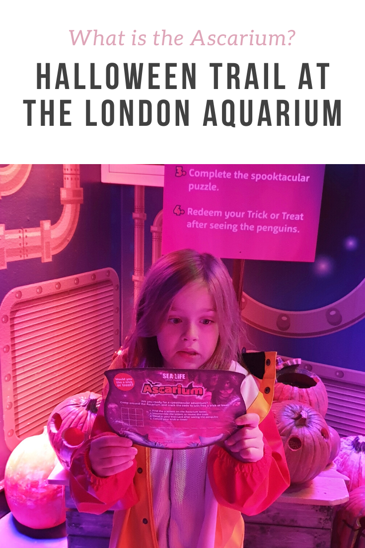 Reviewing the London Aquarium Halloween activities - spooky trail, trick or treat, activities and decor. The Ascarium is back...